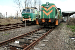 Pijani złodzieje rozkręcali lokomotywę