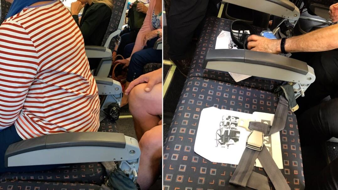 Siedzenia bez oparć w popularnej linii lotniczej