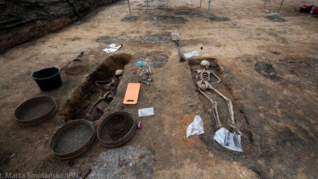 Szczątki na terenie dawnego więzienia
