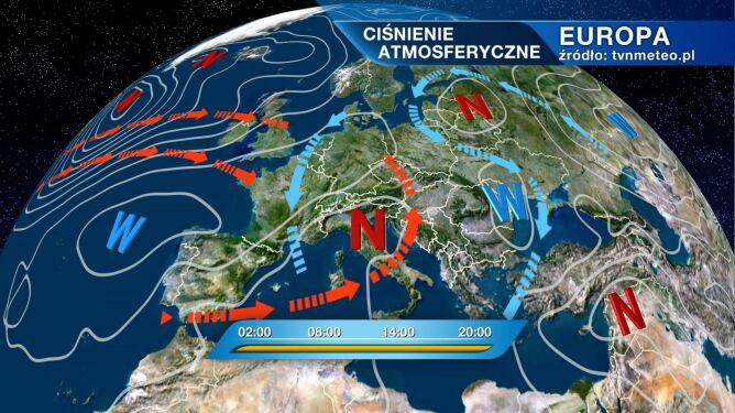 Pogodę w Polsce kształtują dwa układy baryczne