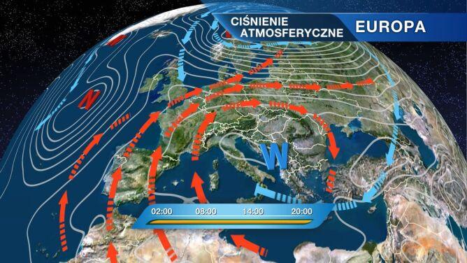 Polska będzie pod wpływem ciepłej masy powietrza