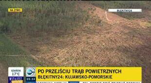 Trąba zniszczyła 400 ha Borów Tucholskich (TVN24)